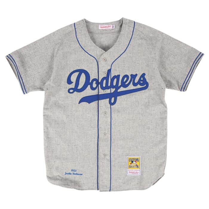 online retailer 5165b c4285 Authentic Jersey Brooklyn Dodgers Road 1955 Jackie Robinson