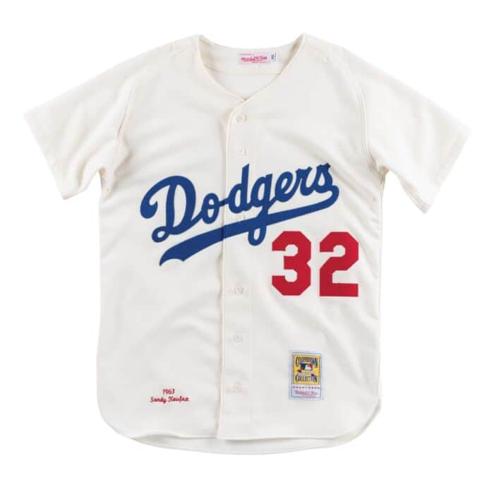 newest 42fc4 1bf10 Authentic Jersey Los Angeles Dodgers Home 1963 Sandy Koufax