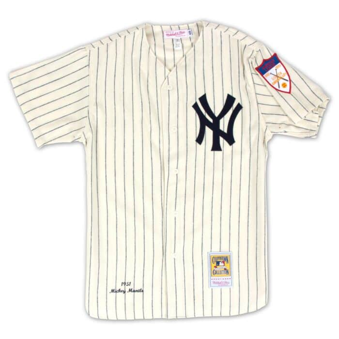 hot sales d1020 b12fd Authentic Jersey New York Yankees Home 1951 Mickey Mantle