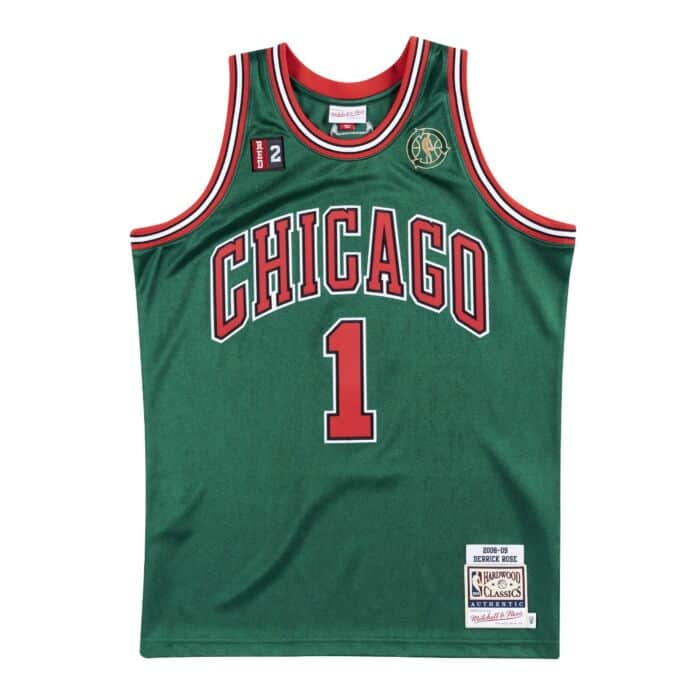 sports shoes 5ead1 9bcbd Authentic Jersey Chicago Bulls Alternate 2008-09 Derrick Rose