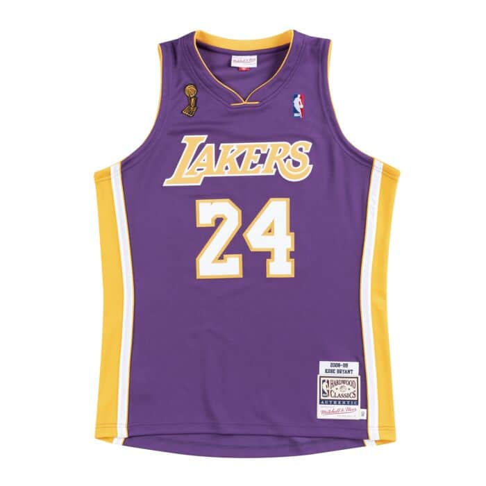 hot sale online 72012 7456e Authentic Jersey Los Angeles Lakers Road Finals 2008-09 Kobe Bryant