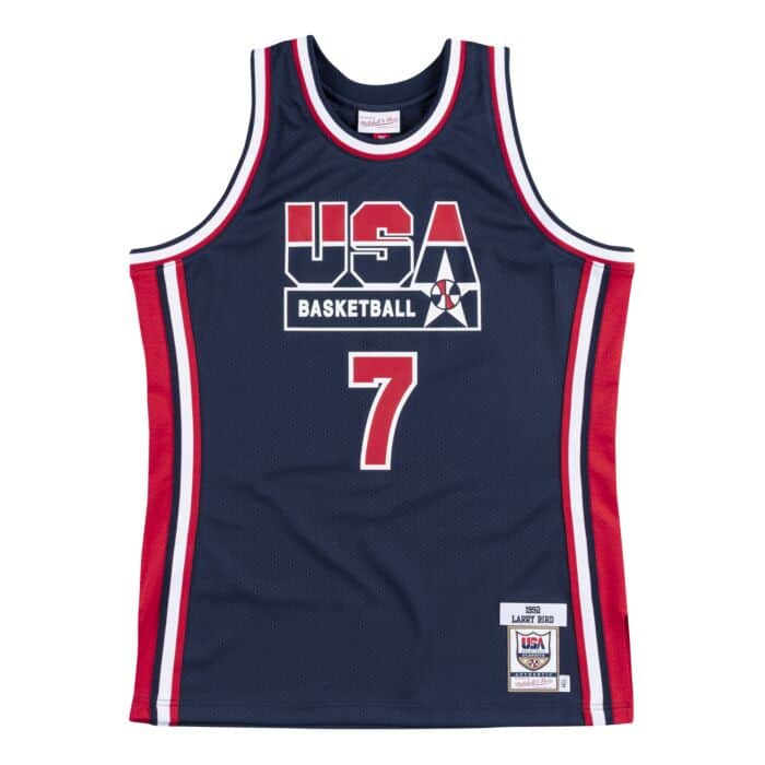 reputable site fa695 3c168 Authentic Jersey Team USA 1992 Larry Bird