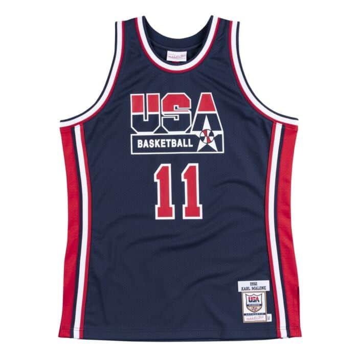 designer fashion 4e410 1f6ae Authentic Jersey Team USA 1992 Karl Malone