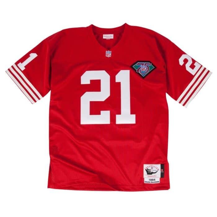 best service 3f5e9 4482e Authentic Jersey San Francisco 49ers 1994 Deion Sanders