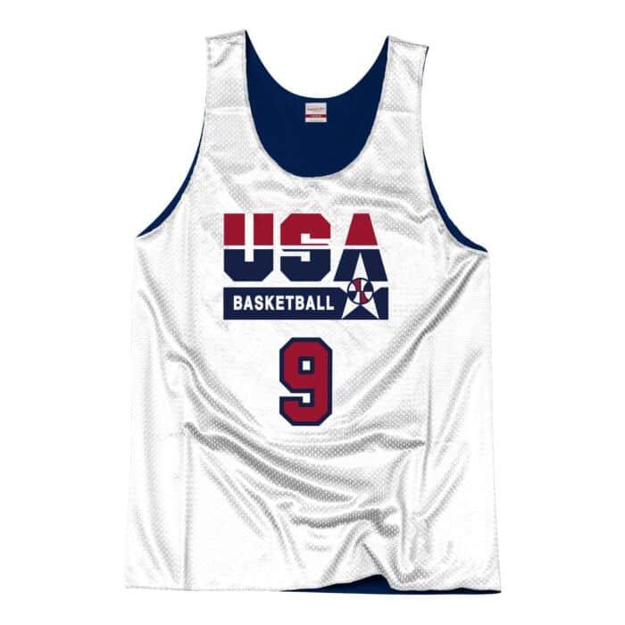 promo code c4f9a e3918 Authentic Reversible Practice Jersey Team USA 1992 Michael ...