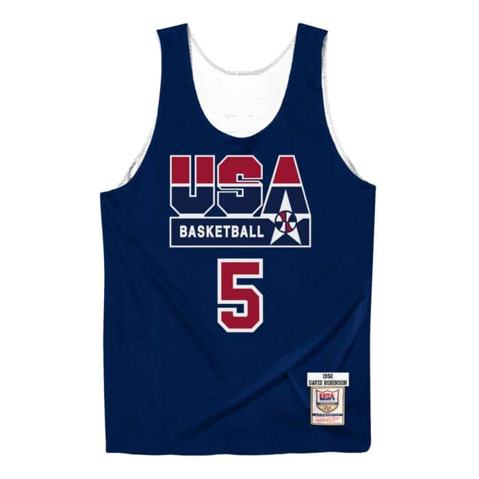 the latest b6032 23df5 Authentic Reversible Practice Jersey Team USA 1992 David Robinson