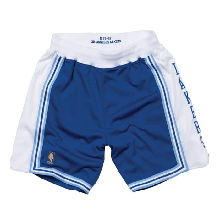3166b03350504 Authentic Shorts Los Angeles Lakers Alternate 1996-97 - Shop Mitchell & Ness  Bottoms and Shorts Mitchell & Ness Nostalgia Co.