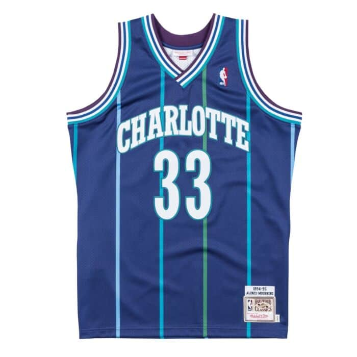 newest 0cd80 03568 Authentic Jersey Charlotte Hornets Alternate 1994-95 Alonzo Mourning