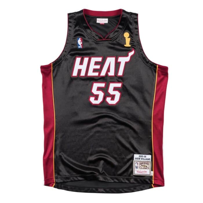 separation shoes 8f13c f48d9 Authentic Jersey Miami Heat Road Finals 2005-06 Jason Williams