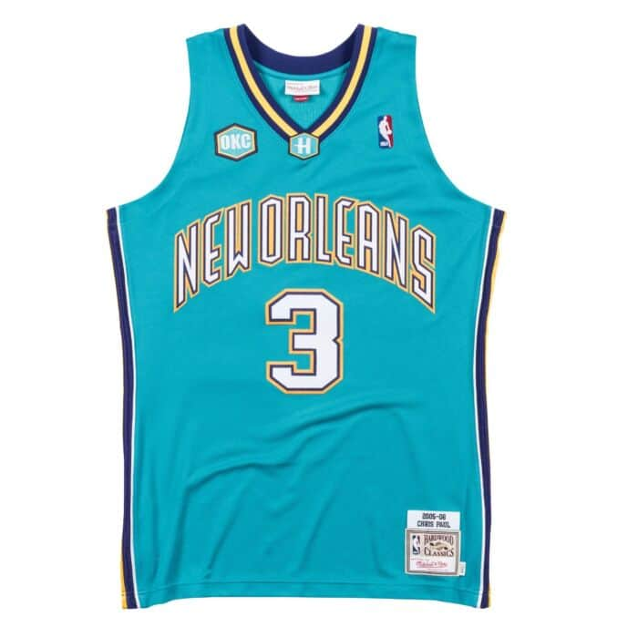 new style b9bae 390df Authentic Jersey New Orleans Hornets Road 2005-06 Chris Paul