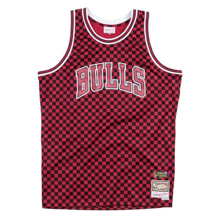wholesale dealer 87ffc 62541 Checkered Swingman Jersey Chicago Bulls