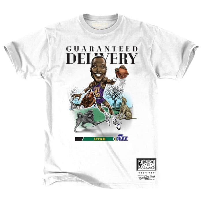 huge discount 52a1e e7842 Caricature Tee Utah Jazz Karl Malone - Shop Mitchell & Ness ...