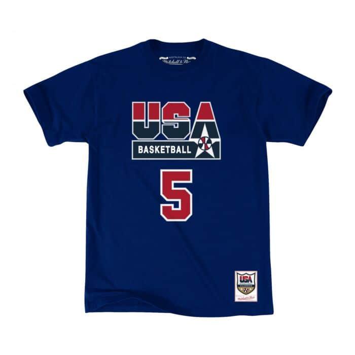 finest selection dc30e 4374a Name & Number Tee Team USA David Robinson