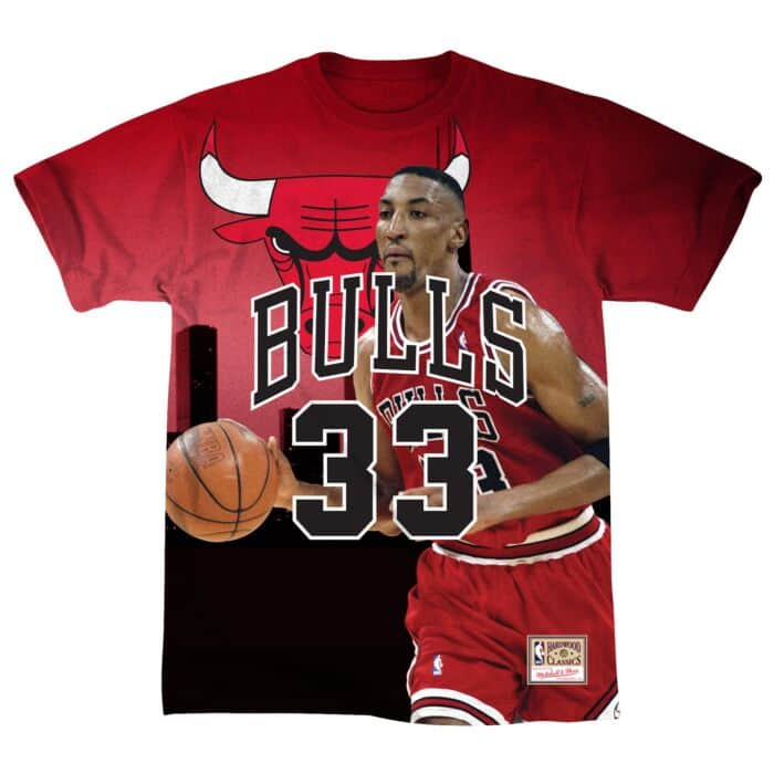 buy online ef046 80ff2 City Pride Name & Number Tee Chicago Bulls Scottie Pippen