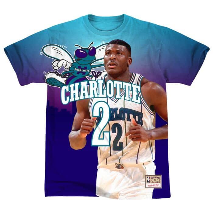 best website 670ea 150d4 City Pride M&N Tee Charlotte Hornets Larry Johnson - Shop ...