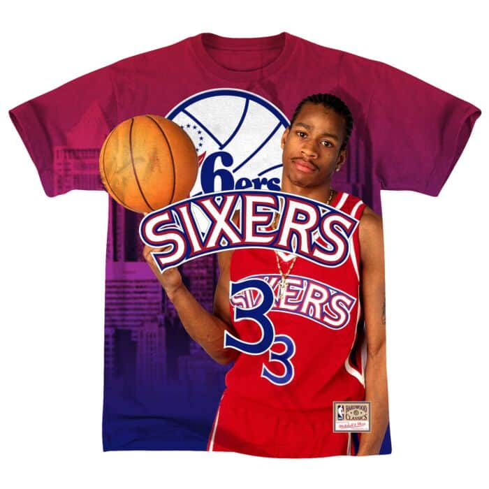 wholesale dealer 95ddf e05d3 City Pride Name & Number Tee Philadelphia 76ers Allen Iverson