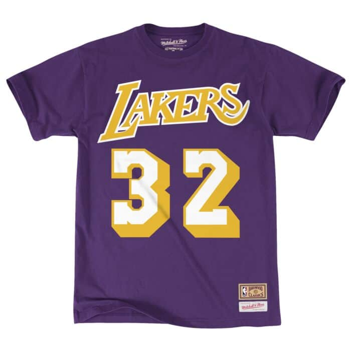 outlet store 275d4 6c7be Name & Number Tee Los Angeles Lakers Magic Johnson