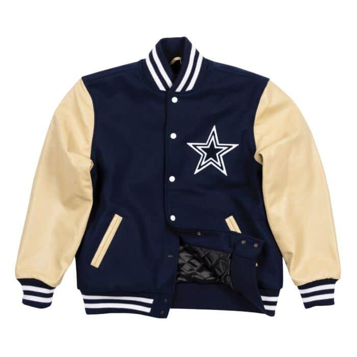 new style 64017 03676 Authentic Wool Varsity Jacket Dallas Cowboys
