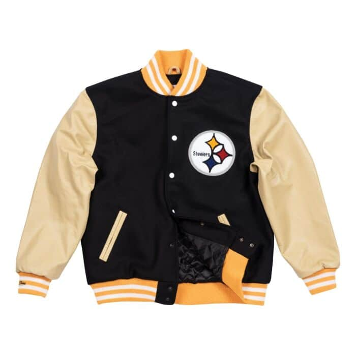 save off f9377 92cbb Authentic Wool Varsity Jacket Pittsburgh Steelers