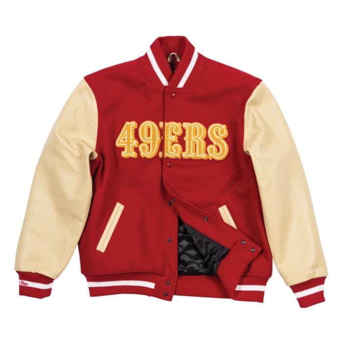 b37a0e07 Authentic Wool Varsity Jacket San Francisco 49ers