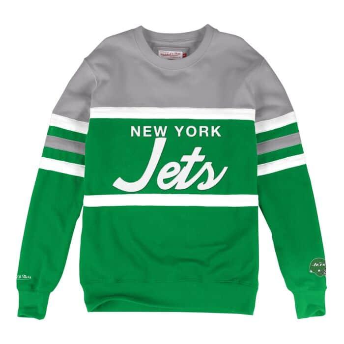 online store 7cea0 3ee2c Head Coach Crew New York Jets - Shop Mitchell & Ness Fleece ...