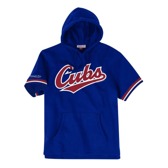 official photos 0455a a1dfc French Terry Short Sleeve Hoody Chicago Cubs - Shop Mitchell ...