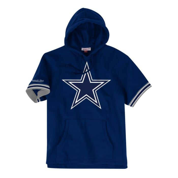 competitive price 1a134 bfd95 French Terry Short Sleeve Hoody Dallas Cowboys - Shop ...