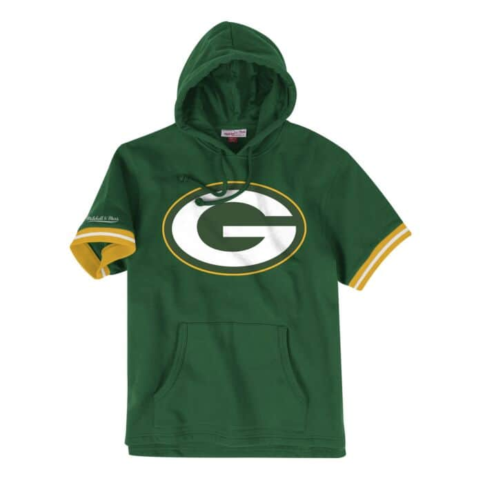the best attitude 91d91 4f415 French Terry Short Sleeve Hoody Green Bay Packers