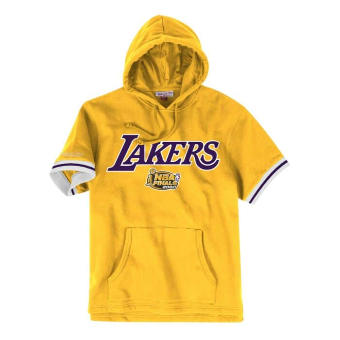 brand new 45d98 54402 French Terry Short Sleeve Hoody Los Angeles Lakers