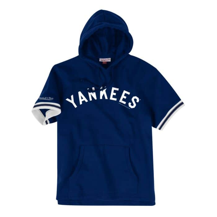 the latest bd60c a0371 French Terry Short Sleeve Hoody New York Yankees - Shop ...
