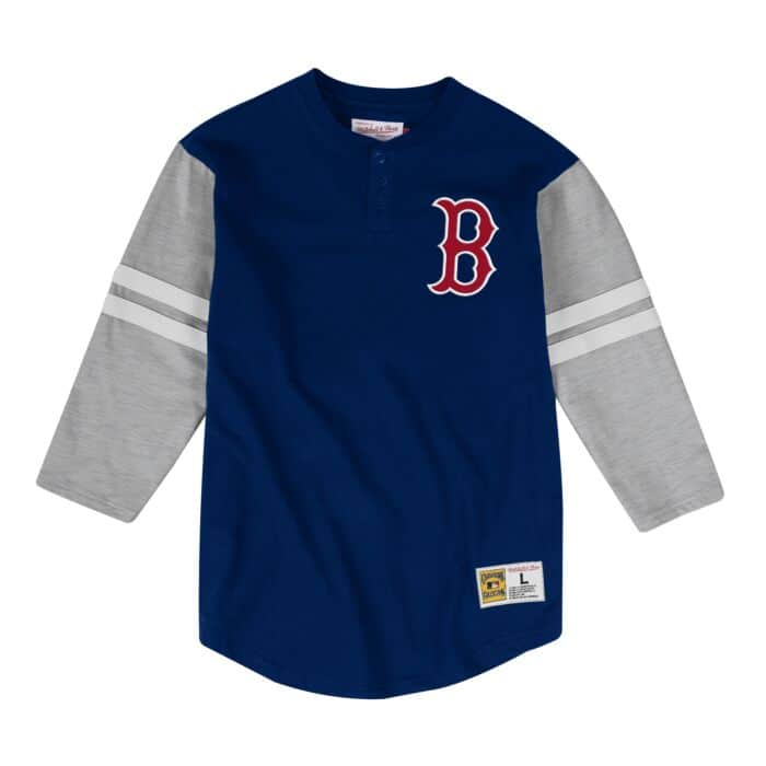 huge discount eec72 ef32b Team Logo Henley Boston Red Sox
