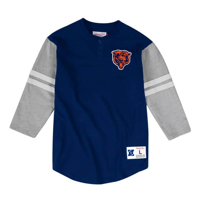 competitive price 554ce 03bf4 Team Logo Henley Chicago Bears