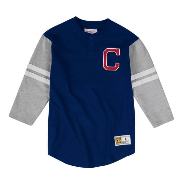 online store f678d c247f Team Logo Henley Cleveland Indians - Shop Mitchell & Ness ...