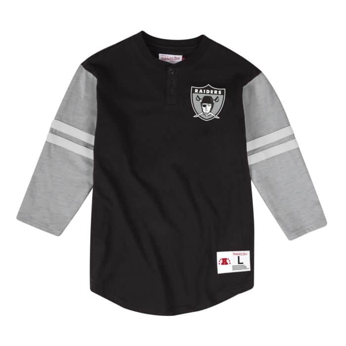 low priced 0cd85 13271 Team Logo Henley Oakland Raiders