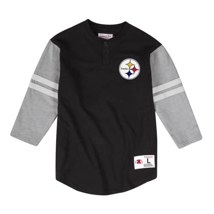 e86de3e8 Team Logo Henley Pittsburgh Steelers