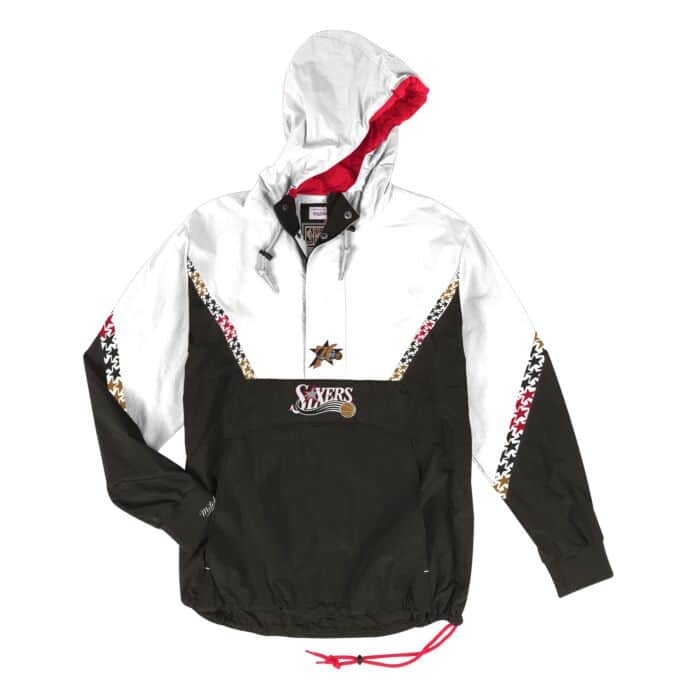 NBA Golden State Warriors Half Zip Anorak by Mitchell /& Ness Mens