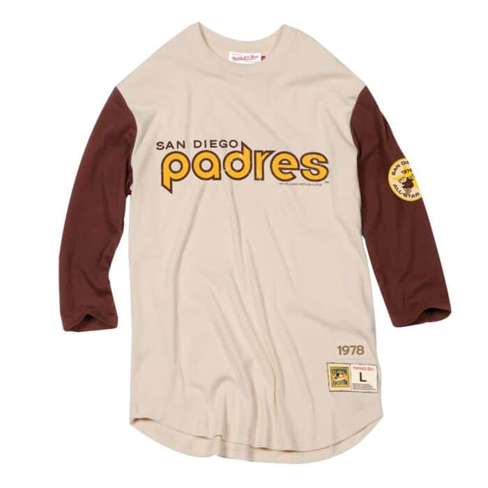 new product ea5e1 381ee Wild Pitch 3/4 Sleeve Tee San Diego Padres