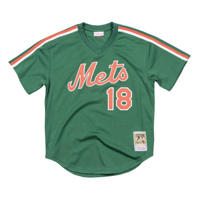 the latest 2a956 1e162 Darryl Strawberry 1988 Authentic Mesh BP New York Mets ...