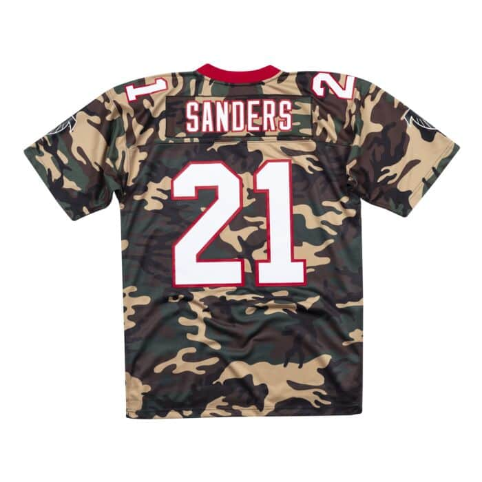 brand new 37ea1 793df Woodland Camo Legacy Jersey Atlanta Falcons 1992 Deion Sanders