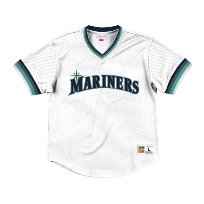 reputable site 4ad3f 9bf72 Mesh V-Neck Seattle Mariners