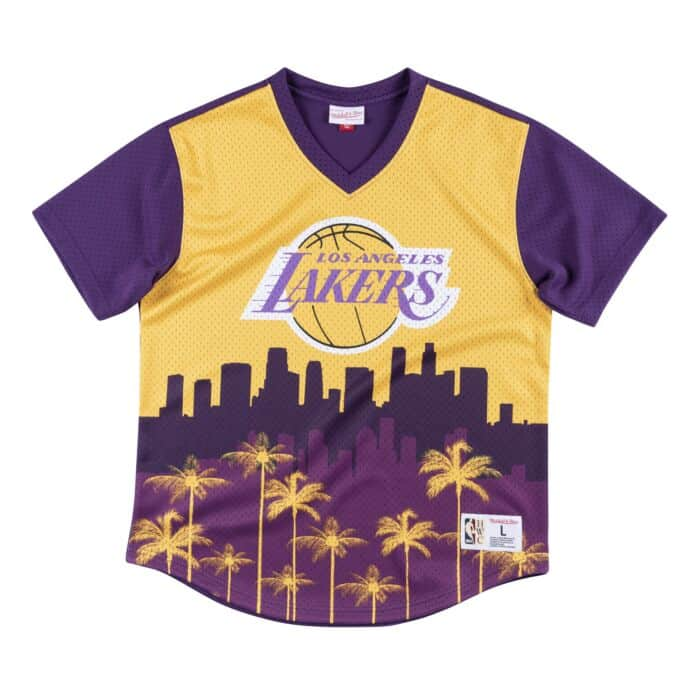 official photos e381d 7bcf2 Game Winning Shot Mesh V-Neck Los Angeles Lakers
