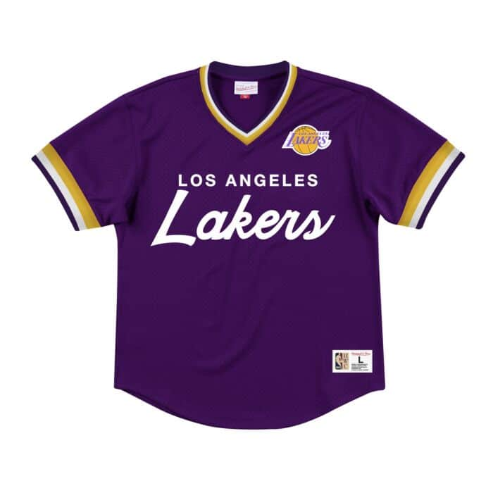 Mitchell & Ness Los Angeles Dodgers LA MLB Mesh V-Neck Grey Jersey sports memorabilia
