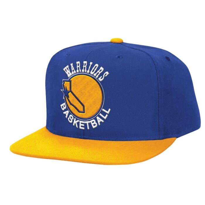 03c9318dc XL Logo Snapback Golden State Warriors Mitchell & Ness Nostalgia Co.
