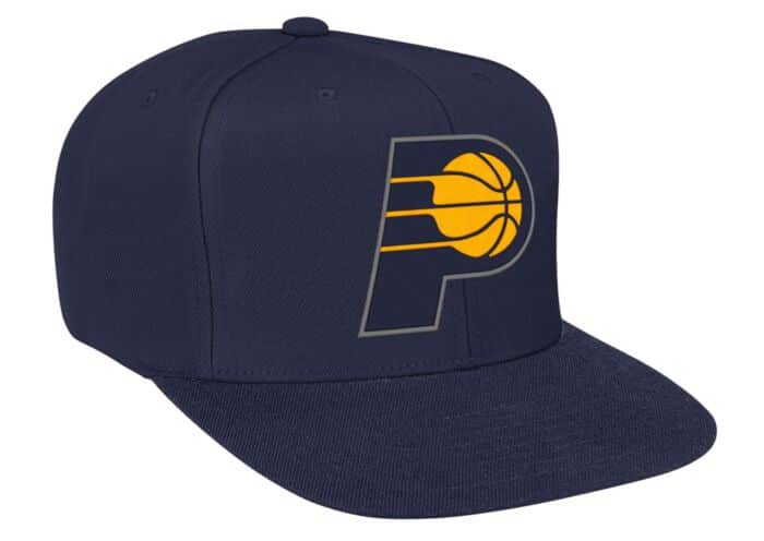 the latest 202ea 22db8 Solid Snapback Indiana Pacers Mitchell & Ness Nostalgia Co.