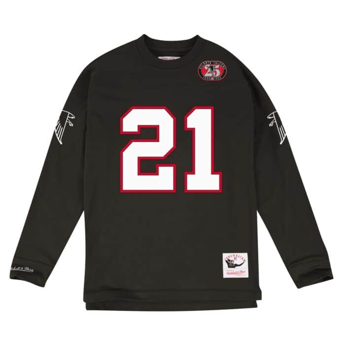 best authentic b2549 de2fd Name & Number Longsleeve Atlanta Falcons Deion Sanders