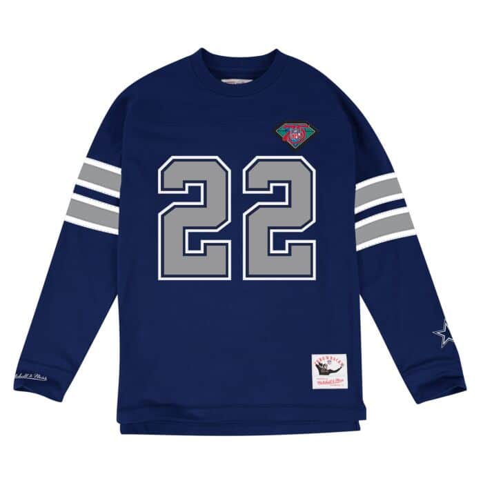 the best attitude cab59 27c63 Name & Number Longsleeve Dallas Cowboys Emmitt Smith