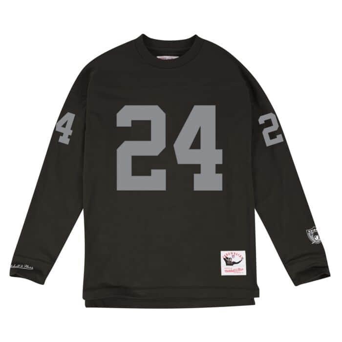 online store 19cf9 83683 Name & Number Longsleeve Los Angeles Raiders Charles Woodson ...