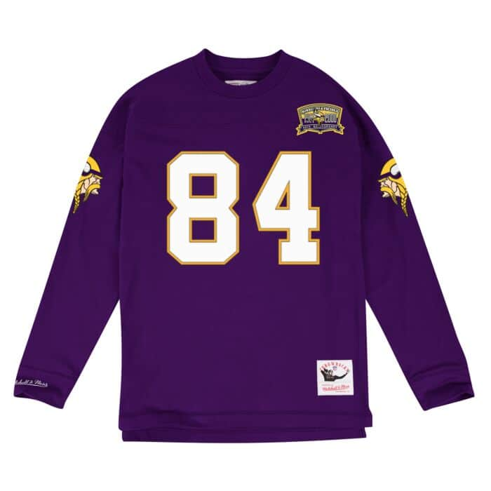 newest e9e57 93173 Name & Number Longsleeve Minnesota Vikings Randy Moss - Shop ...