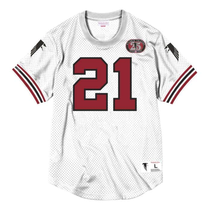 check out eba40 9970d Name & Number Mesh Crew Neck Atlanta Falcons Deion Sanders ...