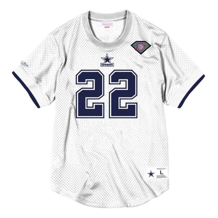brand new 8d2b0 4fd7c Name & Number Mesh Crew Neck Dallas Cowboys Emmitt Smith